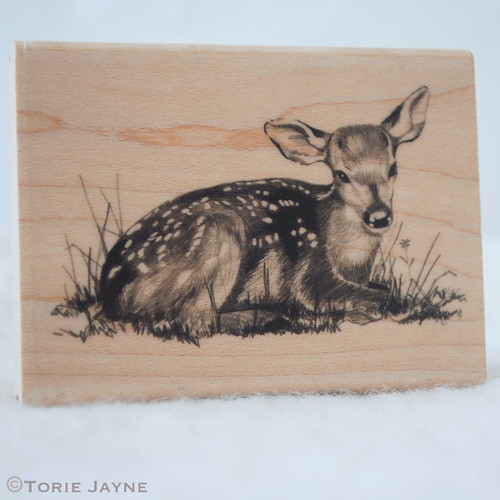 Fawn rubber stamp