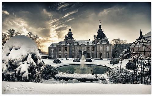 winter sunset sky snow castle landscape ciel neige nuage paysage château hdr hivers modave soleilcouchant colorefexpro châteaudemodave hdrefexpro