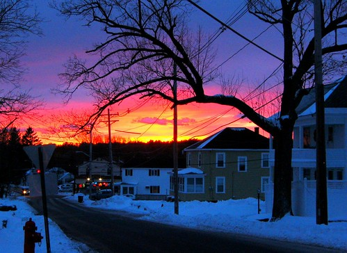 street blue houses winter sunset red wild sky urban orange usa snow tree ice colors beautiful yellow tangerine contrast hydrant ma fire photo amazing cool nice fantastic rainbow perfect december afternoon purple shot superb suburban dusk good unique gorgeous massachusetts awesome snapshot picture peach meadow violet indigo newengland best east mauve capture avenue quick epic better hdr 5pm 2010 lowell pinkcloud 6pm bestsunset sunsetphoto