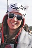 Beautiful Wisconsin girl with Badger Hat at 2011 Rose Bowl