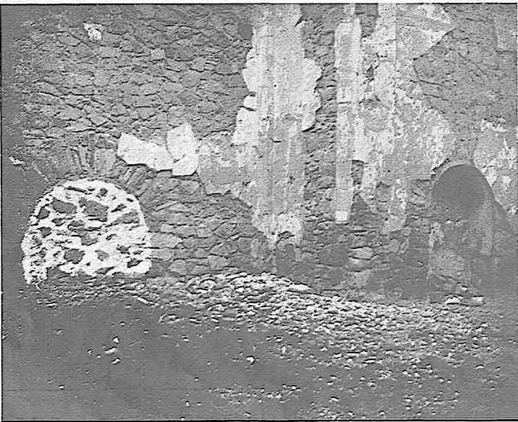 Restos del antiguo monasterio de San Servando en Toledo. Fotografía publicada en enero de 1927 en la Revista Toledo
