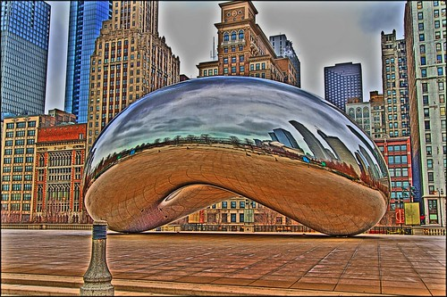 Abandoned Bean ~ Cloud Gate in January 2011 ~ HDR CHICAGO
