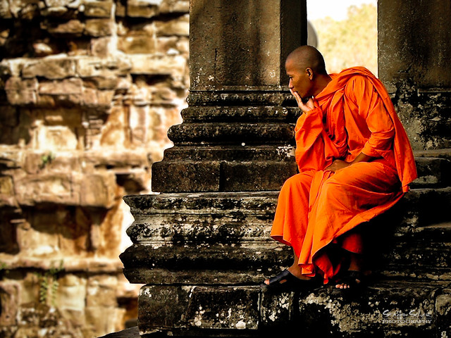 Munk ved Angkor Wat