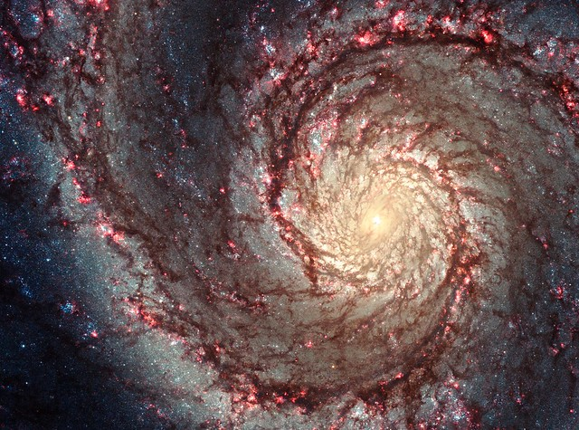 Photo:Hubble image of M51, the 'Whirlpool Galaxy'. By:dsleeter_2000