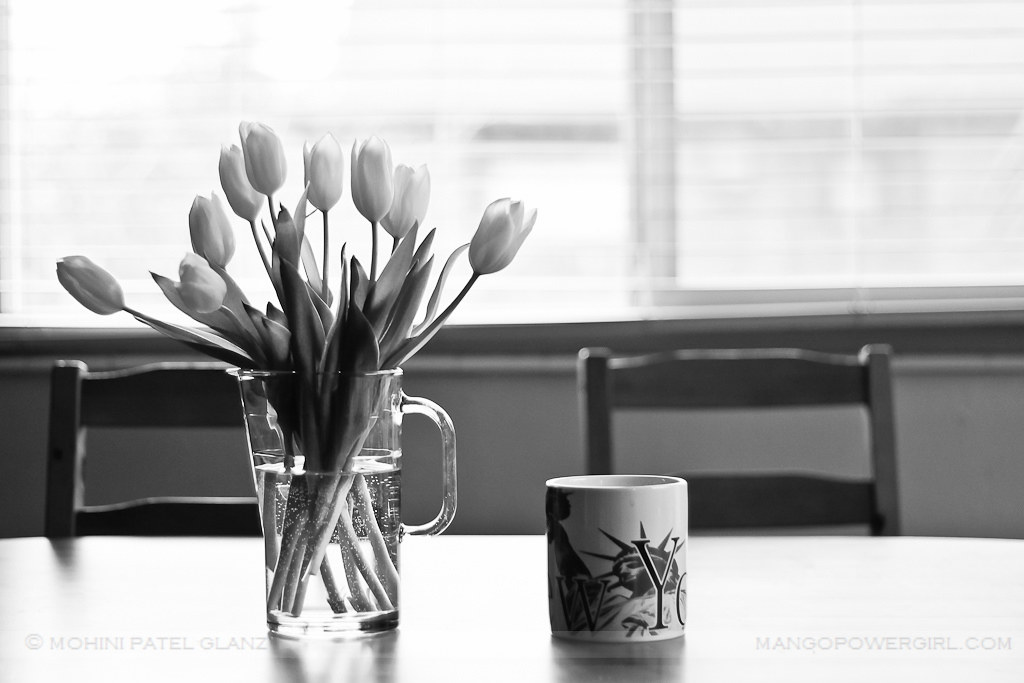 winter flowers & lady liberty mug