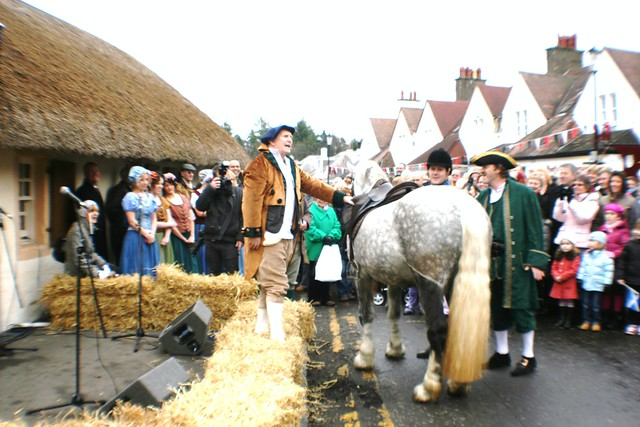 Robert Burns reenactment at Alloway, Scotland