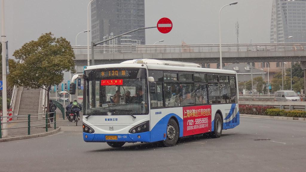 Shanghai Bus 130 S0I-104 SWB6107HG4