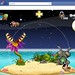 Screenshot of Pocket God on Facebook