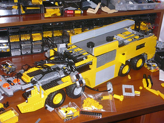 Lego Technic Aircraft Rescue and Fire Fighting truck - Work in progress