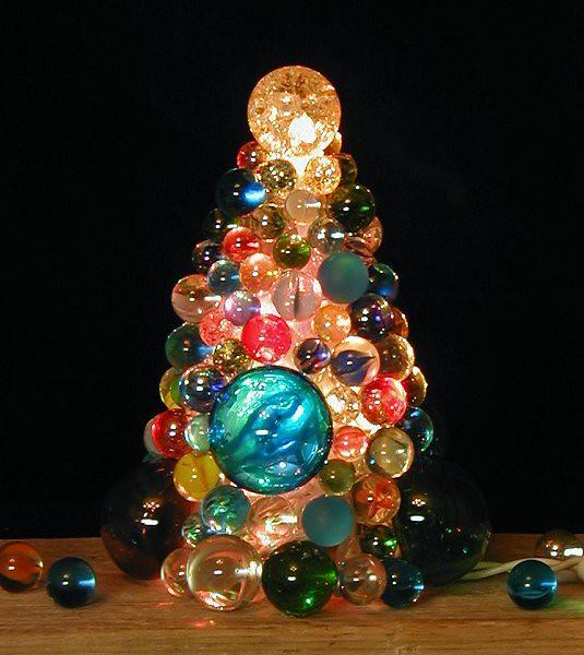 glass marble christmas tree lighting