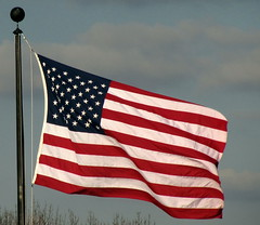 Flag at Valley Forge Visitor Center