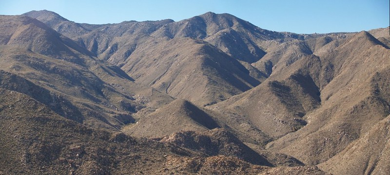 View directly across Carrizo Gorge