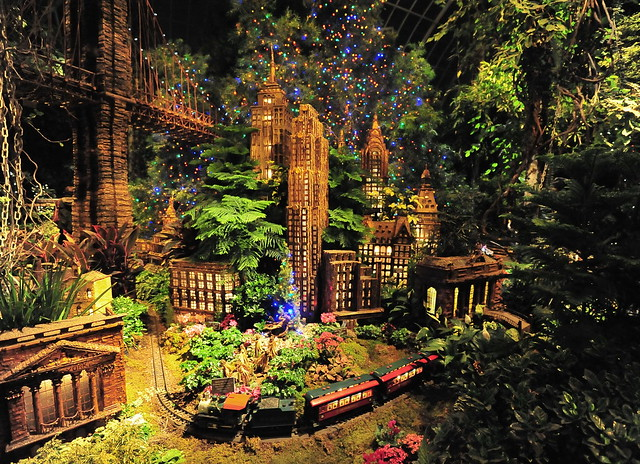 Holiday train show nyc landmarks flickr photo sharing Botanical garden train show