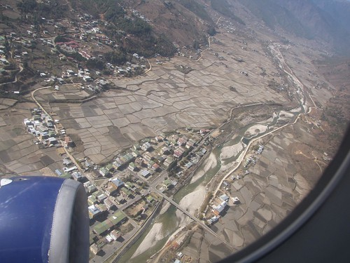 Paro Town from above