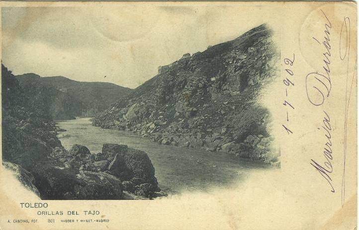 Torno del Tajo hacia 1900. Foto Cánovas (Kaulak) para Hauser y Menet