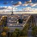 Coucher de soleil depuis l'Arc de Triomphe de l'Étoile / Paris by zzapback