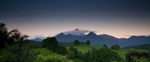 Mt Warning - The first rays of the sun to hit the Australian continent
