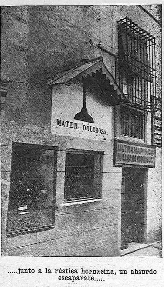 Hornacina de la Virgen de los Alfileritos de Toledo en 1925. Fotografía publicada en diciembre de 1925 en la Revista Toledo