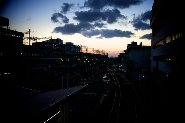 Sunset over the railroad tracks   Flickr - Photo Sharing!