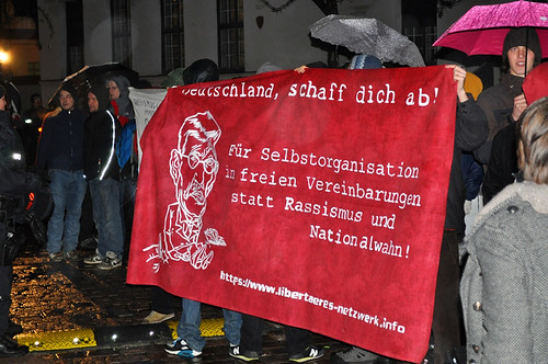 Proteste gegen Sarrazin in Dresden