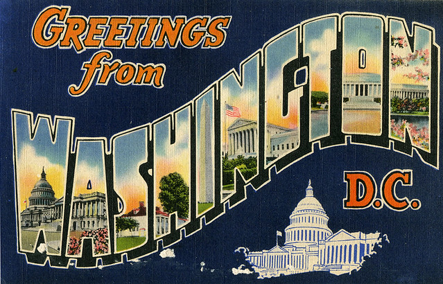 Greetings From Washington D C Large Letter Postcard