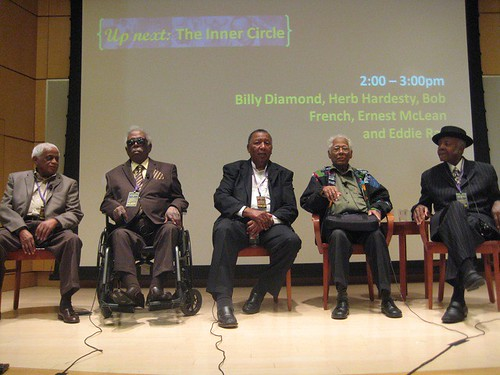 Eddie Ray, Billy Diamond, Bob French, Herb Hardesty, Ernest McLean. Photo by Sally Young.