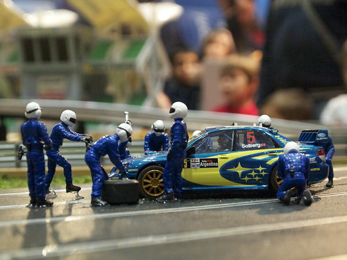 Toy car track pitstop