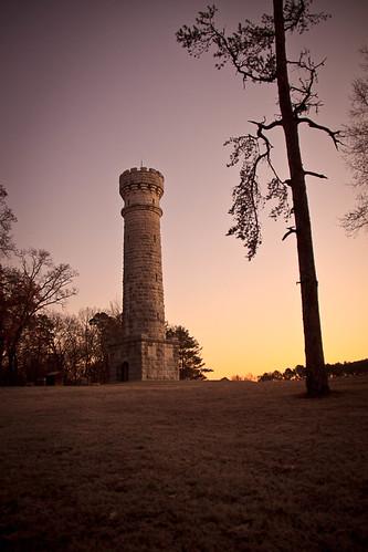 park monument sunrise battlefield wilder chickamauga
