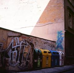 Prague dumpsters