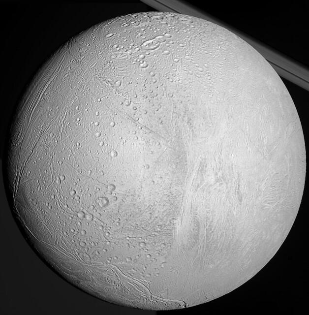 Enceladus - Anti-Saturn Hemisphere Mosaic (2010)