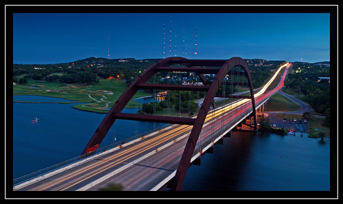 bridge light austin river texas trails headlights zuiko sundet brakelights pennybackerbridge pennybacker 1260mm olympuse30