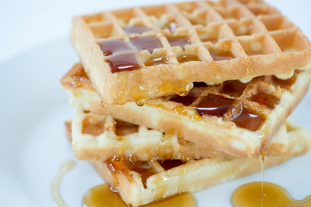 waffles and maple syrup | Flickr - Photo Sharing!