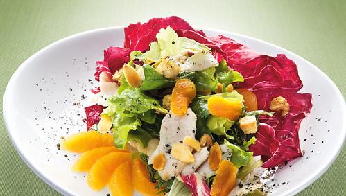 Salada Mandarim em Emulsão de Gergelim