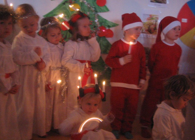 Lucia at the pre-school.