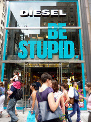 Wonder What Stupid Has to do with Buying Diesel Brand - New York City