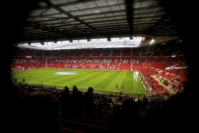 Old Trafford Manchester United by CC user vegaseddie on Flickr