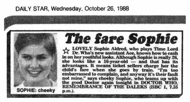 sophie aldred words and pictures