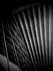 Queue de ventilateur de ciel concret