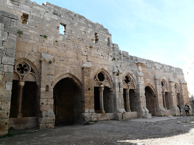 Logia en el Crac de los Caballeros ( Krak des Chevaliers ). Fortaleza de los cruzados en Siria