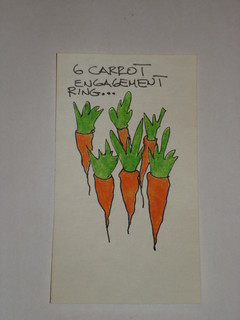 "just in case anyone isn't sure how many ""carrots"" the engagement ring is..."