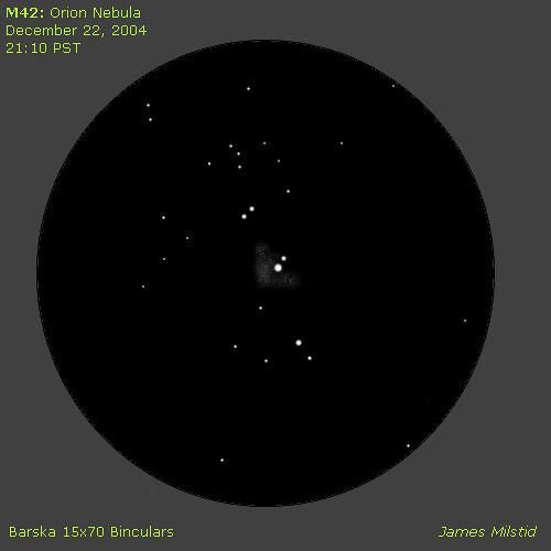 orion nebula through binoculars - photo #2