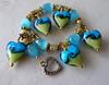 Heart Lampwork Bracelet