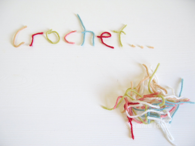 I heart yarn worms and crochet! - © emma lamb