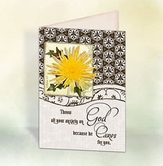 ccrl God Cares 5x7in Card