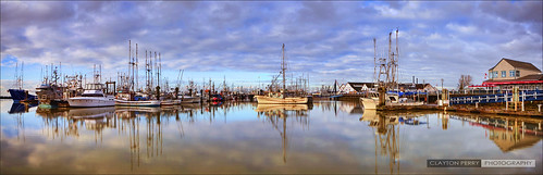 vancouver steveston hdr winter morning panorama fishing boats richmond reflections explore explored