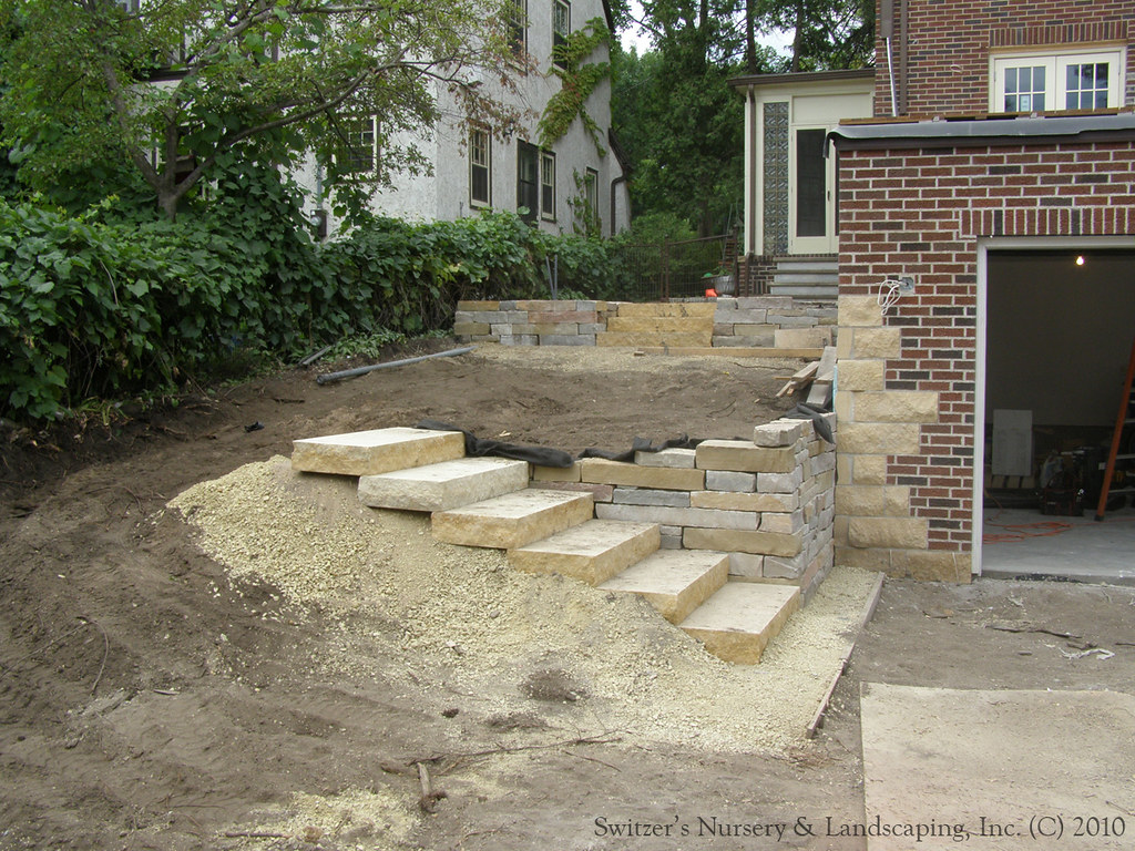 Complete Backyard Renovation Installing Natural Stone