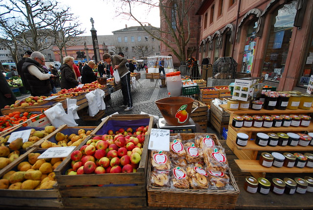 Market in Mainz, Germany