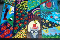 pattern(0.0), textile(0.0), psychedelic art(0.0), collage(0.0), art(1.0), child art(1.0), painting(1.0), mural(1.0), illustration(1.0), modern art(1.0), acrylic paint(1.0),