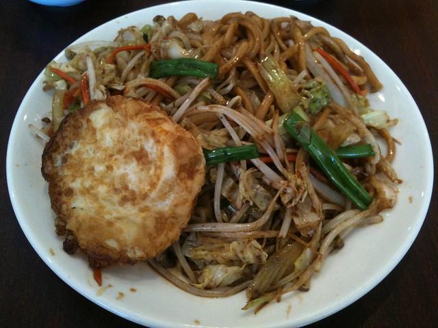 fried vegetable noodle w/ fried egg.   Flickr - Photo Sharing!
