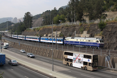 Chinese diesel hauling a northbound Through Train